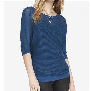 NWOT Express Sparkle Mesh Knit Dolman Sweater, XS